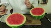 روش صحیح و خلاقانه بریدن و خوردن هندوانه