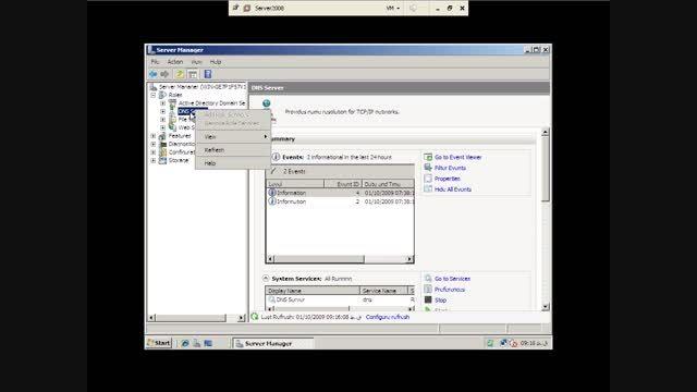 آموزش سرور 2008 - تنظیمات DNS