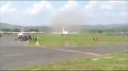 تیک آف 767 از باند بسیار کوتاه