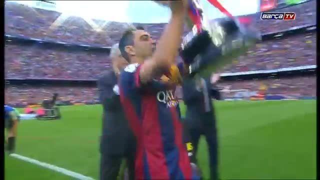 جشن قهرمانی بارسلونا در لالیگا ٢٠١٥
