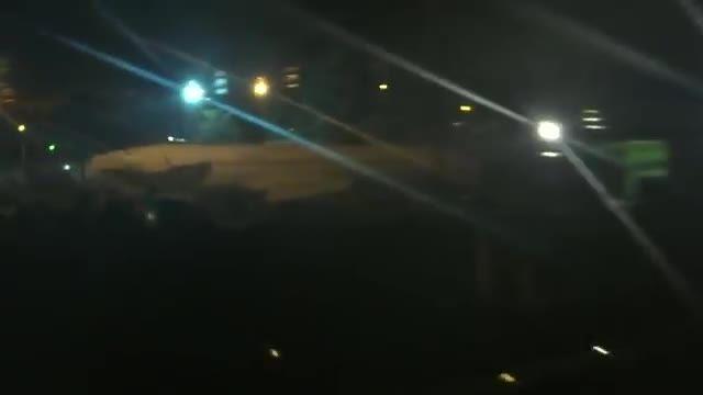 فرود شبانه ی A320 قطری در فرودگاه مشهد