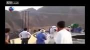 نجات مرد خوش شانس از یک حادثه غیر منتظره
