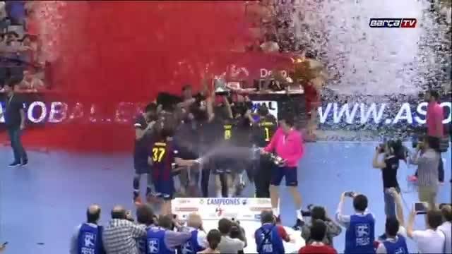 هندبال : بارسلونا 27 - 26 فراکین (قهرمانی بارسلونا)