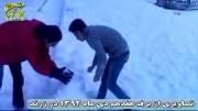 تلویزیون راتین - برف زمستانی در شهرستان زرند - ۱۷ دی ماه ۹۲