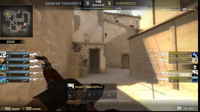 cs go: how to win a 3vs1 fight with 1hp