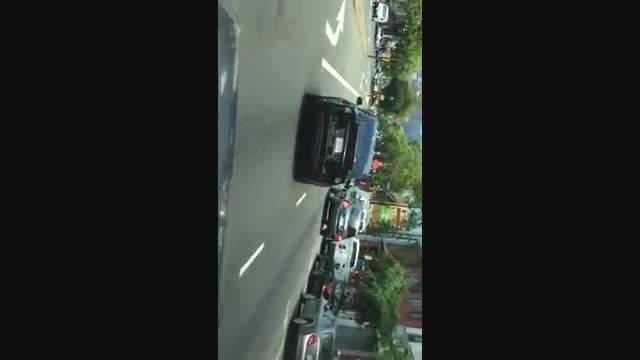 تست تسلا مدل ایکس در جاده ها و خیابان های شهری 2