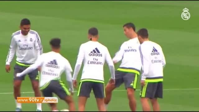 آخرین تمرین رئال مادرید قبل از دربی مادرید
