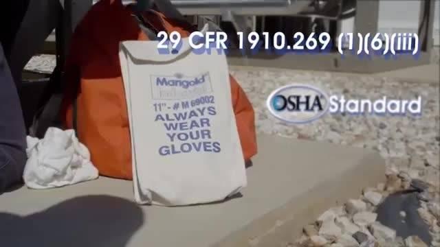 نحوه صحیح استفاده از دستکش عایق برق