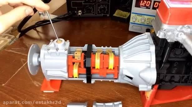 ساخت گیربکس کامل با پرینتر سه بعدی