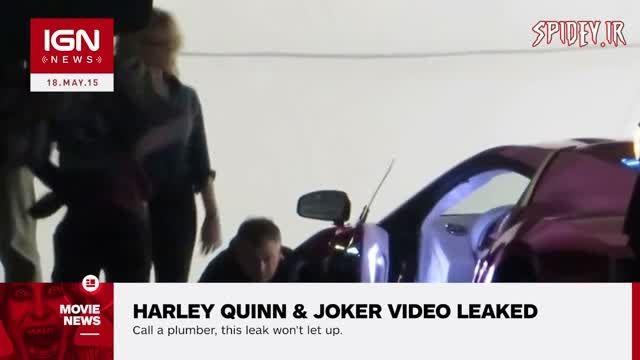 سیلی زدن جوكر به هارلی كوئین پشت صحنه suicide squad