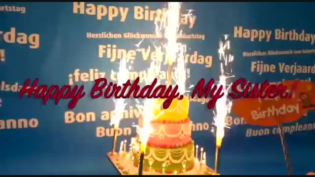 Happy Birthday Song for My Sister!