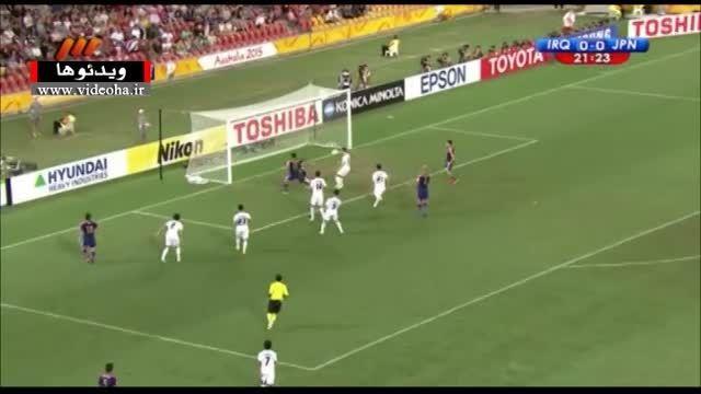 خلاصه بازی عراق ۰-۱ ژاپن