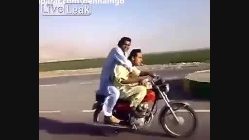 موتور سواری به روش افغانی ها