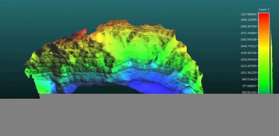 مدل سه بعدی دیواره ریزشی صعب العبور