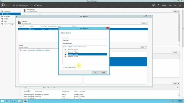 محیط Windows Server 2012 و نصب و راه اندازی NIC Teaming