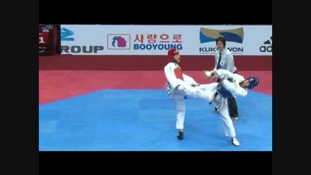 مبارزه عاشورزاده و کره جنوبی در گرندپریکس مسکو 2015