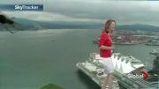 ترسیدن خانم گزارشگر از عنکبوت در پخش زنده (ته خنده).......