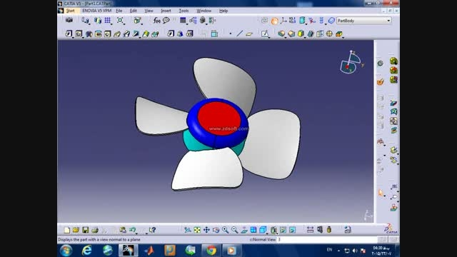 آموزش طراحی فن تهویه هوا با کتیا HD