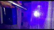لیزر آبی اسپایدر 1.5 وات در حال سوزاندن