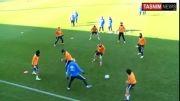 هنر نمایی زیدان در تمرین رئال مادرید