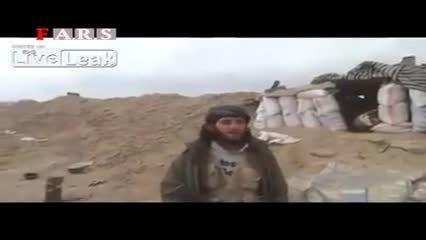 ترکیدن داعشی جلو دوربین