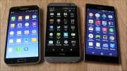 XPERIA Z3 vs One M8 vs  Galaxy S5_Display comparison