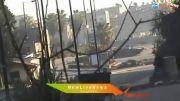 هدف قرار دادن تانک ارتش سوریه توسط تروریست های سوریه