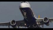 فرود هواپیما هنگام وزش باد