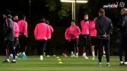 آخرین تمرین تیم بارسلونا در سال 2014