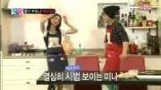 we got married لی هونگ کی و فوجی مینا food sing