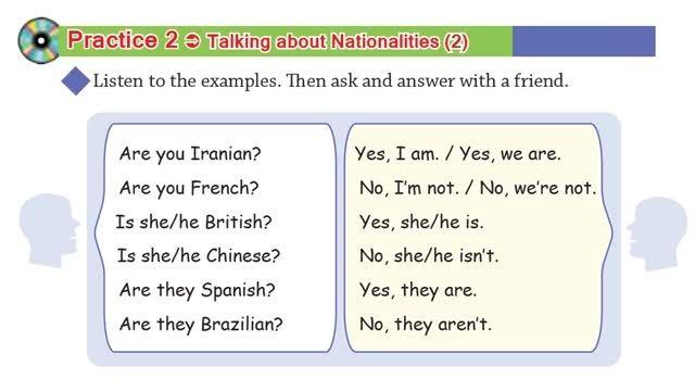 گرامر درس اول قسمت دوم - زبان انگلیسی پایه هشتم
