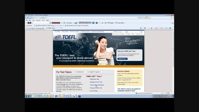 آموزش ثبت نام در آزمون تافل