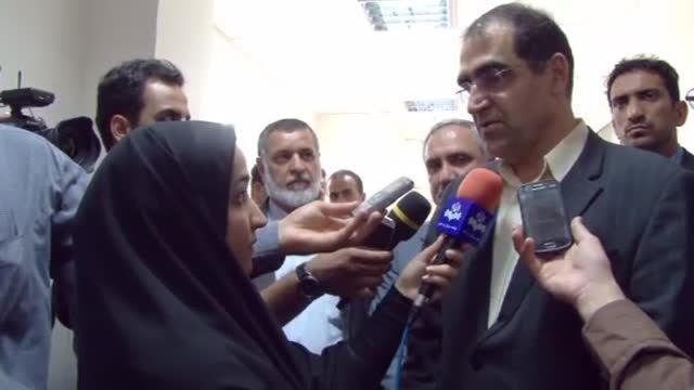 حضور وزیر بهداشت در خوزستان