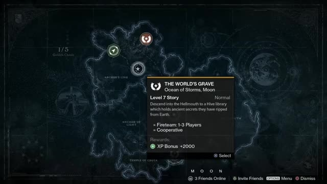 5 Golden Chests Locations on the Moon
