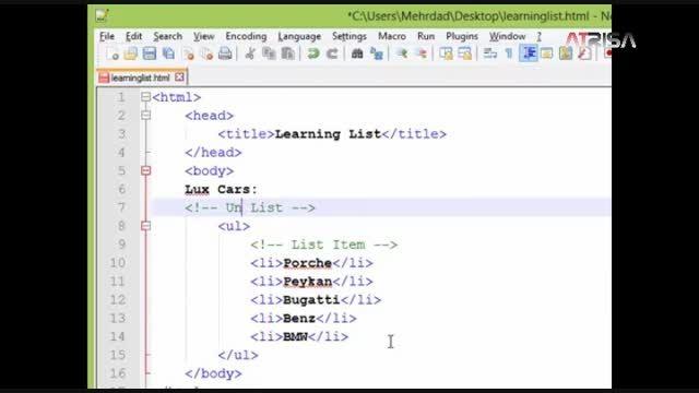 آموزش HTML و CSS (قسمت چهارم) - آتریسا وب