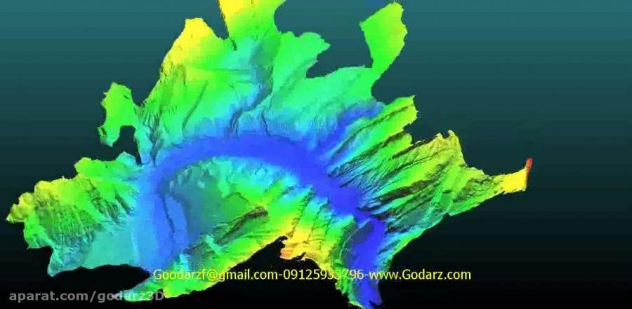 مدل سه بعدی توپوگرافی ساختگاه سد دز (200 هکتار)