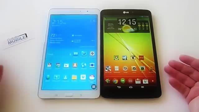مقایسه تبلت8.3  Samsung Galaxy Tab S2 9.7 VS lg pad