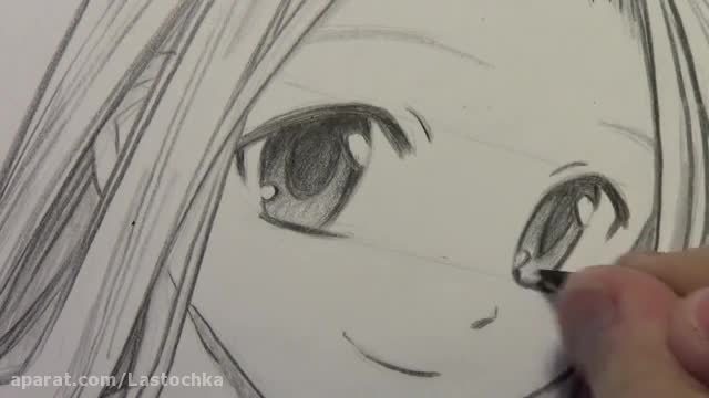 How to Draw Manga Eyes, Line by Line in Real Time