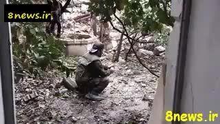 لحظه ترکیدن کامل یک داعشی توسط ...... -عراق-سوریه