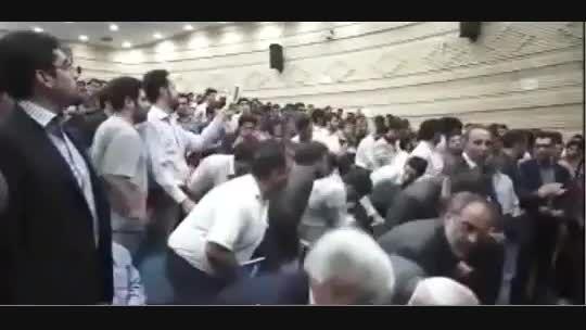 اخلال در سخنرانی محمدرضا عارف و جعفر توفیقی - شیراز