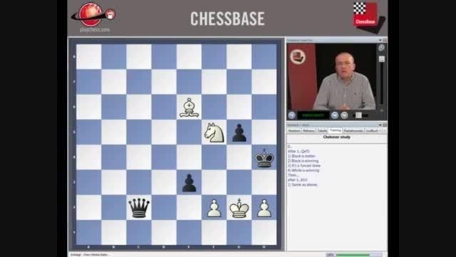 فیلم آموزش شطرنج اولین قدم در آخربازی شطرنج chessok.ir