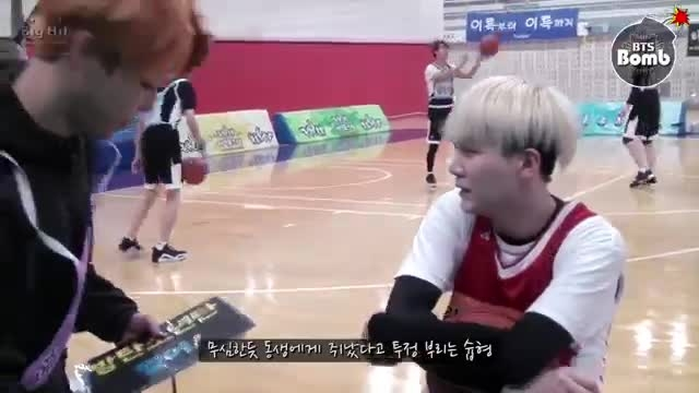 BANGTAN BOMB] Shooting guard SUGA with cheerleader 2 Ji