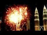 شمارش معکوس و نورافشانی آغاز سال ۲۰۱۲ در کوالالامپور - مالزی