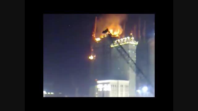 ویدیویی دیگر از حادثه آتش سوزی هتل در مکه