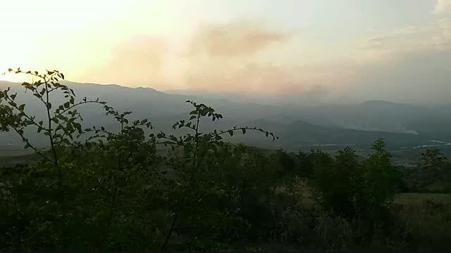 آتش سوزی اراضی آذربایجان در قره باغ