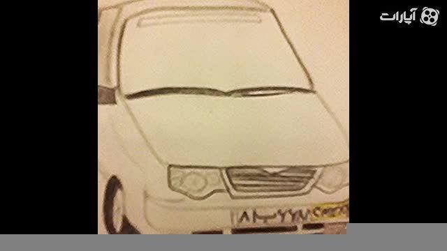 نقاشی سلطان با سیاه قلم در نیم ساعت