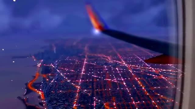 فرود بوئینگ 737 در فرودگاه شیکاگو، شبهای شبیه ساز الماس