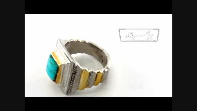 انگشتر فیروزه نیشابوری فاخر مردانه لوکس-کد7522