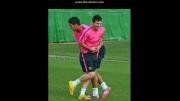 مسی در تمرینات بارسا ..