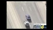 متوقف کردن ماشین در حال فرار توسط پلیس امریکا!!!!